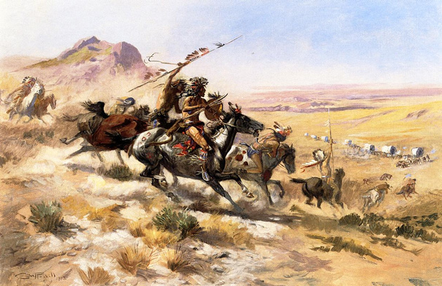 Attack_on_a_Wagon_Train_1902